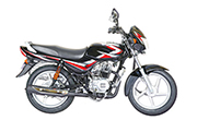 Bajaj CT 100 Ebony Black (Red Decals)