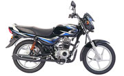 Bajaj CT 100 Ebony Black (Blue Decals)