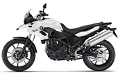 BMW F650 Alpine White
