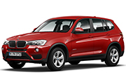 BMW X3 Melbourne Red