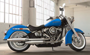 Harley Davidson Softail Deluxe Electric Blue