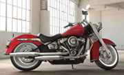 Harley Davidson Softail Deluxe Wicked Red