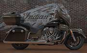 Indian Roadmaster Indian Polished Bronze Over Thunder Black With Silver Pinstripe