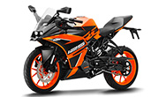 KTM RC 125 Black and Orange