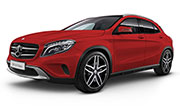 Mercedes Benz GLA-Class Jupiter Red