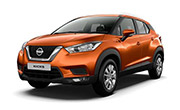 Nissan kick Amber Orange