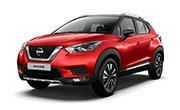 Nissan kick Fire Red with Onyx Black
