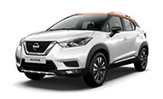 Nissan kick Pearl White With Amber orange