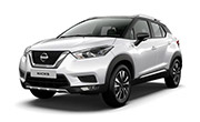 Nissan kick Pearl White With Onyx Black