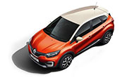 Renault Captur Cayenne Orange Body with Marble Ivory Roof