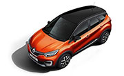 Renault Captur Cayenne Orange Body with Mystery Black Roof
