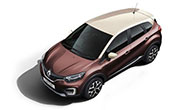 Renault Captur Mahogany Brown Body with Marble Ivory Roof