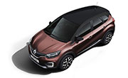 Renault Captur Mahogany Brown Body with Mystery Black Roof