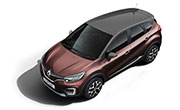 Renault Captur Mahogany Brown Body with Planet Grey Roof
