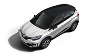 Renault Captur Pearl White with Mystery Black Roof