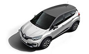Renault Captur Pearl White Body with Planet Grey Roof