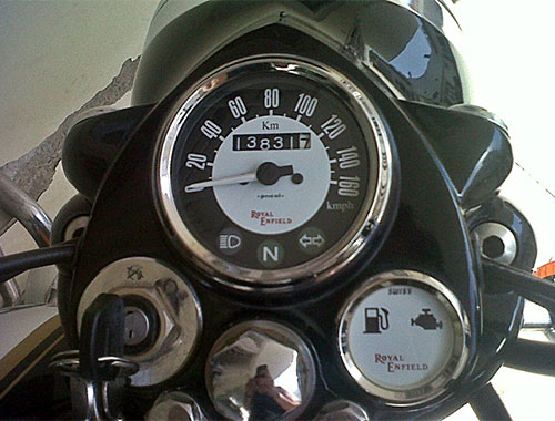 how to fix fuel gauge on royal enfield