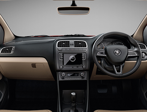 Skoda Rapid Facelift Interior
