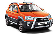 Toyota Etios Cross Inferno Orange