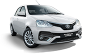 Toyota Platinum Etios Pearl White With Crystal Shine