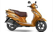 TVS Wego Metallic Orange