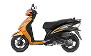 TVS Wego Orange Black