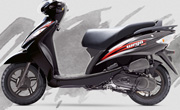 TVS Wego Midnight Black