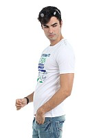 Locomotive men white t-shirt003 Photo pictures
