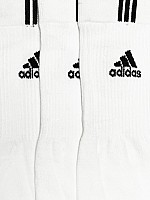 Adidas Unisex White Pack of 3 socks02 Picture pictures