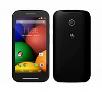 Motorola Moto E Black Front And Back pictures