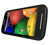 Motorola Moto E Black Front And Side pictures