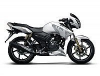 TVS Apache RTR 180 abs Pearl White pictures