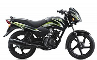 TVS Sport Electric Start Black Green pictures