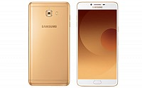 Samsung Galaxy C9 Pro Gold Front And Back pictures