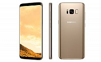 Samsung Galaxy S8 Maple Gold Front,Back And Side pictures