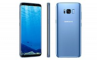 Samsung Galaxy S8 Coral Blue Front,Back And Side pictures