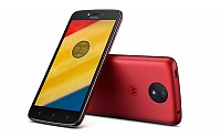 Motorola Moto C Plus Metallic Cherry Front,Back And Side pictures