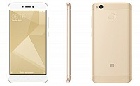Xiaomi Redmi 4 Gold Front,Back And Side pictures