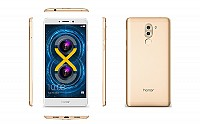 Huawei Honor 6X Gold Front,Back And Side pictures