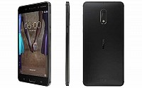 Nokia 6 Matte Black Front, Back And Side pictures