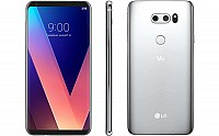 LG V30 Cloud Silver Front, Back and Side pictures