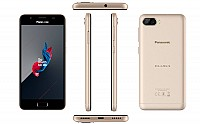 Panasonic Eluga Ray 500 Champagne Gold Front, Back and Side pictures