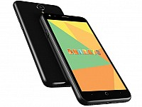 Micromax Bharat 3 Black Front, Back and Side pictures