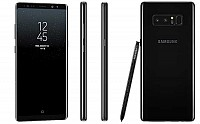 Samsung Galaxy Note 8 Midnight Black Front,Back And Side pictures