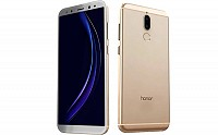 Huawei Honor 9i Prestige Gold Front,Back And Side pictures