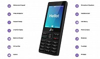 Jio Phone Black Front And Side pictures