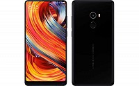 Xiaomi Mi Mix 2 Black Front And Back pictures