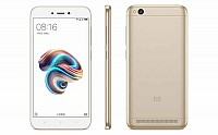 Xiaomi Redmi 5A Gold Front,Back And Side pictures