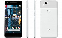 Google Pixel 2 Clearly White Front, Back And Side pictures