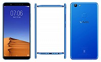 Vivo V7 Plus Energetic Blue Front,Back And Side pictures
